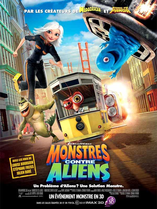 Monstres contre Aliens affiche