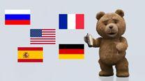 Ted 2... en anglais, français, allemand, espagnol et russe !