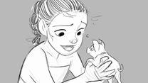 """Vaiana, la légende du bout du monde - BONUS VO """"Scène coupée : bébé Pua"""""""