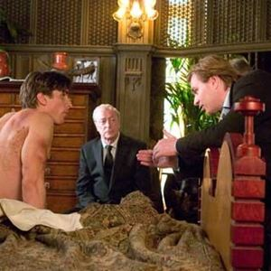 Batman Begins : Photo Christian Bale, Christopher Nolan, Michael Caine