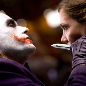 The Dark Knight, Le Chevalier Noir : Photo Heath Ledger, Maggie Gyllenhaal