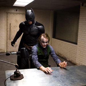 The Dark Knight, Le Chevalier Noir : Photo Christian Bale, Heath Ledger