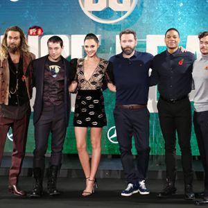 Justice League : Photo promotionnelle Ben Affleck, Ezra Miller, Gal Gadot, Henry Cavill, Jason Momoa
