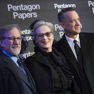 Pentagon Papers : Photo promotionnelle Meryl Streep, Steven Spielberg, Tom Hanks