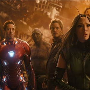 Avengers: Infinity War : Photo Chris Pratt, Dave Bautista, Pom Klementieff, Robert Downey Jr., Tom Holland