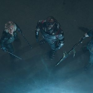 Avengers: Infinity War : Photo Anthony Mackie, Chris Evans, Scarlett Johansson