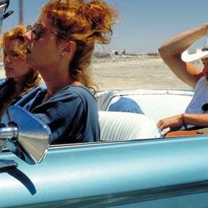 Thelma et Louise : Photo Brad Pitt, Geena Davis, Susan Sarandon