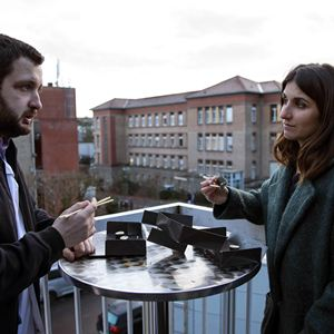 Photo Géraldine Nakache, Karim Leklou