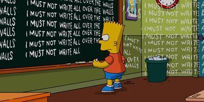 Les Simpson : les meilleures phrases de Bart au tableau