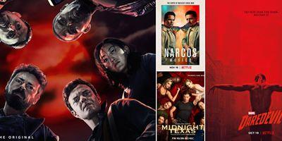 Marvel's Daredevil, Narcos: Mexico, Murder... Les séries de la rentrée font le plein d'affiches [MAJ]