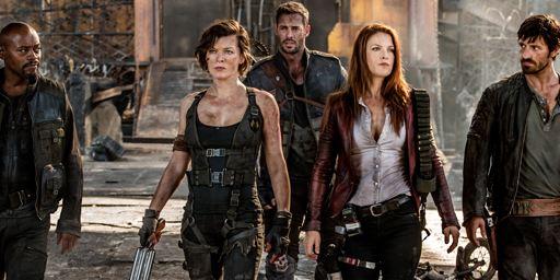 Milla Jovovich et les personnages de Resident Evil - Chapitre Final s'affichent