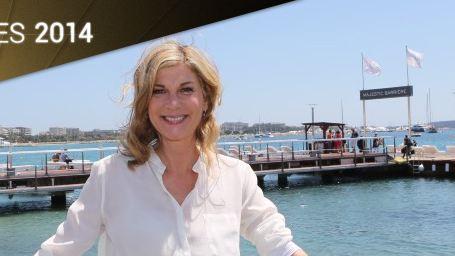 Cannes 2014 : Michèle Laroque invitée des déjeuners AlloCiné sur la plage du Majestic