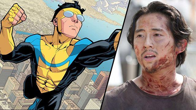 Invincible : Steven Yeun retrouve le papa de The Walking Dead pour la série super-héroïque animée