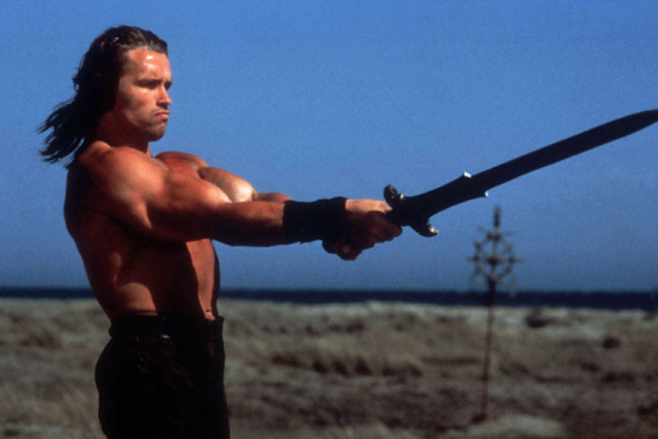 Conan le barbare : Photo Arnold Schwarzenegger, John Milius, Robert E. Howard