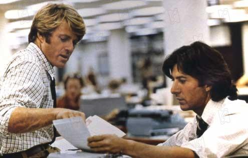 Les Hommes du Président : Photo Alan J. Pakula, Dustin Hoffman, Robert Redford