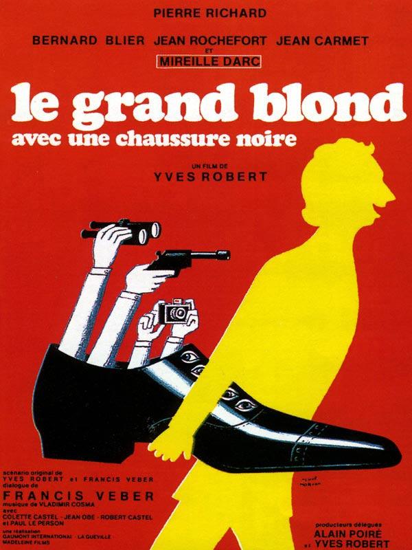 Le Grand Blond avec une chaussure noire : Affiche