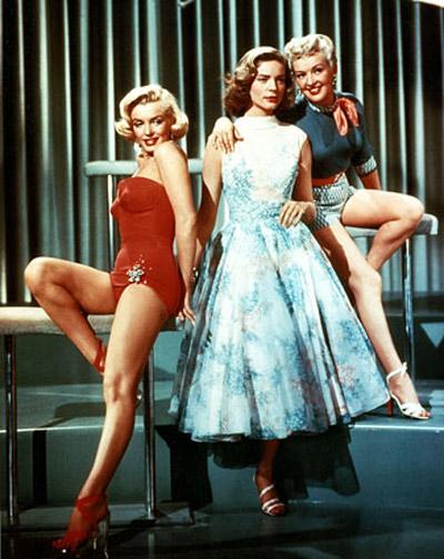 Comment épouser un millionnaire : photo Betty Grable, Jean Negulesco, Lauren Bacall, Marilyn Monroe
