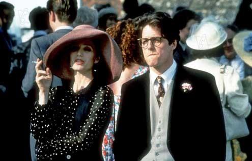Quatre mariages et un enterrement : Photo Hugh Grant, Kristin Scott Thomas