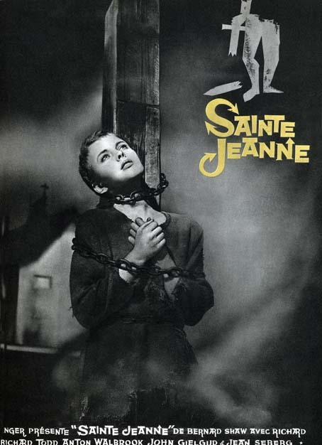 Sainte Jeanne : affiche Jean Seberg, Otto Preminger