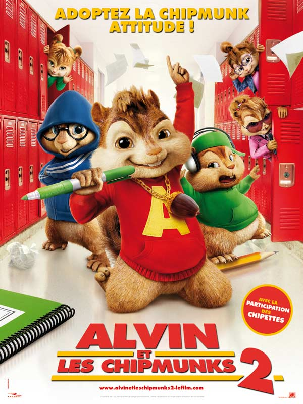 Alvin et les chipmunks 2 film 2009 allocin - Coloriage alvin et les chipmunks simon ...