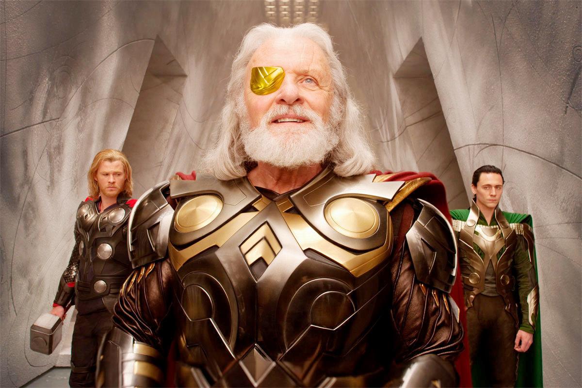 Thor : photo Anthony Hopkins, Chris Hemsworth, Kenneth Branagh