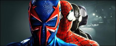 dans la toile de laraigne avec spider man dimensions