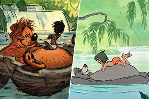 d couvrez quoi ces h ros anim s ont failli ressembler baloo et mowgli dans le livre de la. Black Bedroom Furniture Sets. Home Design Ideas