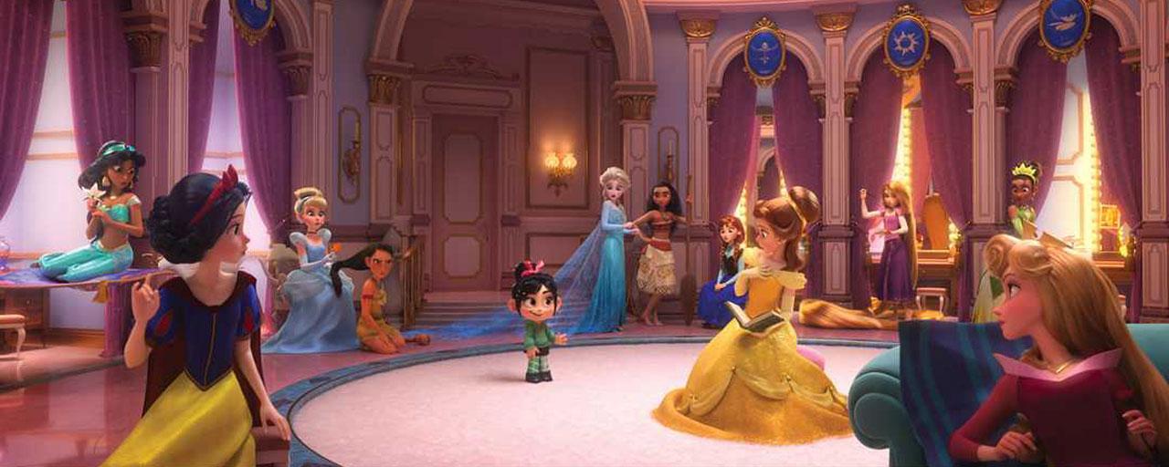 Elsa vaiana ariel cendrillon toutes les princesses disney r unies dans les mondes de ralph - Toutes les princesse disney ...