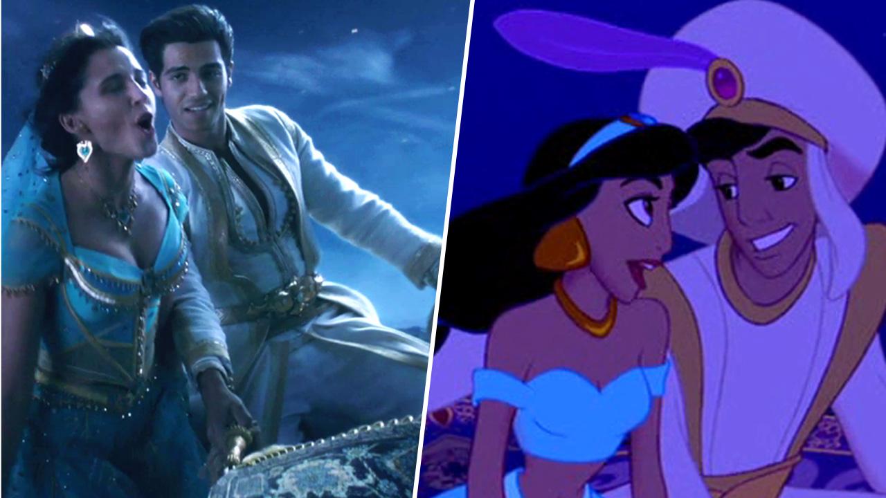Aladdin la comparaison entre la version live et le film - Le singe d aladdin ...