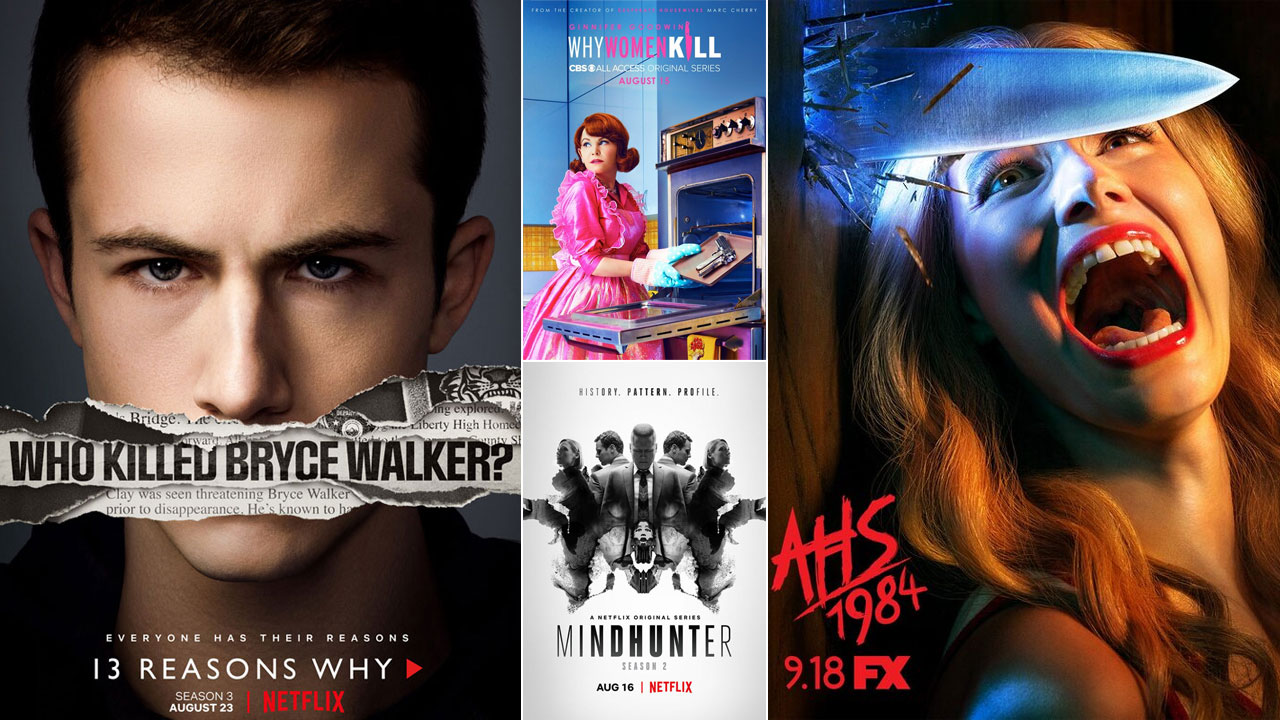 13 Reasons Why, American Horror Story 1984, Mindhunter... Les séries font le plein d'affiches
