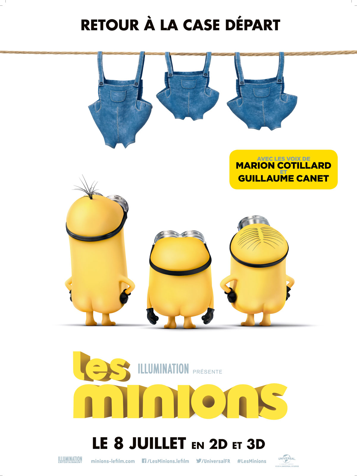 affiche du film les minions affiche 14 sur 16 allocin. Black Bedroom Furniture Sets. Home Design Ideas