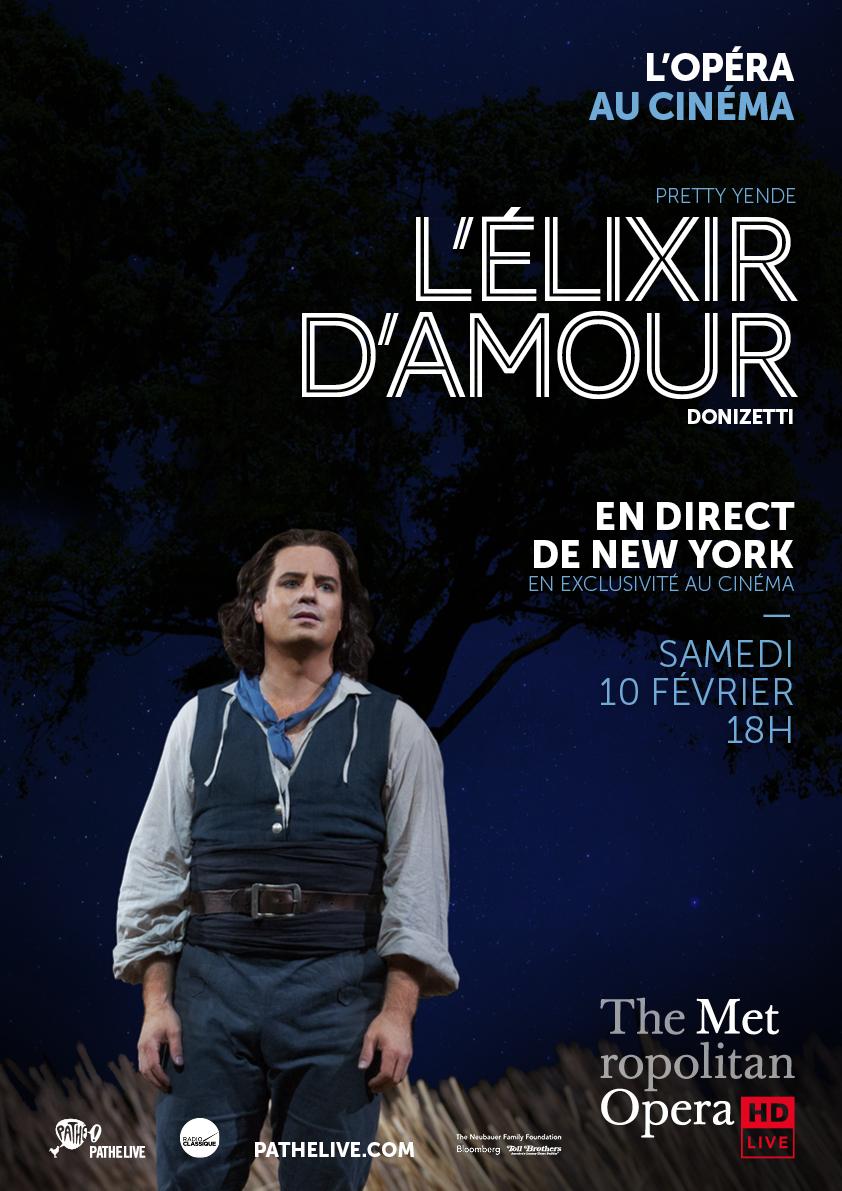 Affiche du film L'Élixir d'amour (Met-Pathé Live)