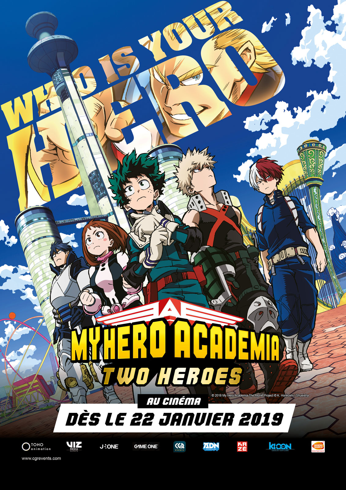 My Hero Academia : Two Heroes (CGR Events 2019) streaming