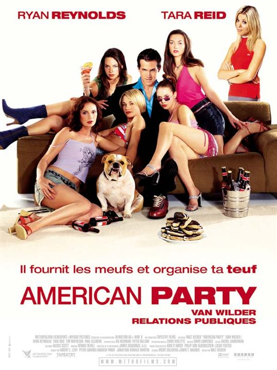 American party - Van Wilder relations publiques : Affiche