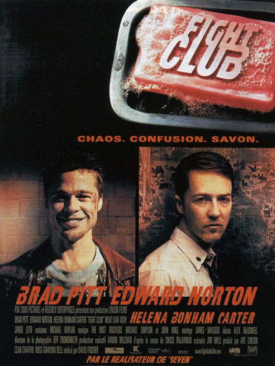 The alternate personality in the fight club a movie by david fincher