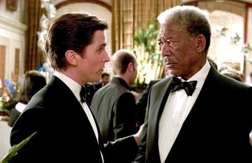 Batman Begins : Photo Christian Bale, Morgan Freeman