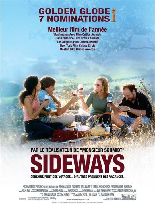 Sideways : affiche Alexander Payne, Paul Giamatti, Thomas Haden Church