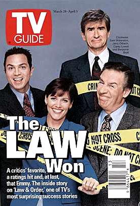 New York District / New York Police Judiciaire : Photo promotionnelle Benjamin Bratt, Carey Lowell, Jerry Orbach, Sam Waterston
