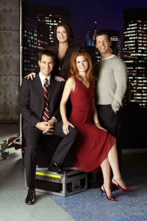 Will & Grace : Photo Debra Messing, Eric McCormack, Megan Mullally, Sean Hayes