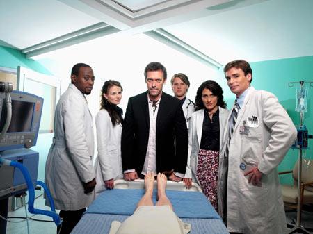 Dr House : Photo Hugh Laurie, Jennifer Morrison, Jesse Spencer, Lisa Edelstein, Omar Epps