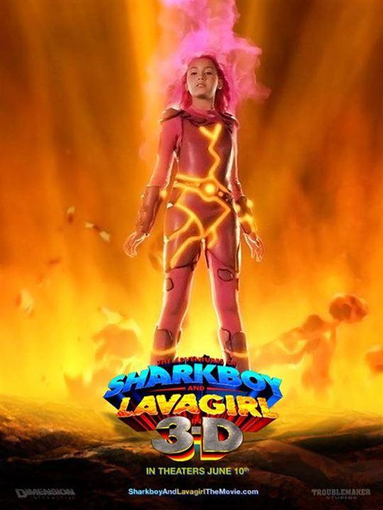 Les Aventures de Shark Boy et Lava Girl : affiche