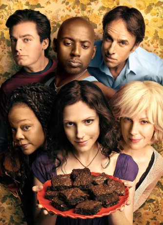 Weeds : Photo Elizabeth Perkins, Justin Kirk, Kevin Nealon, Mary-Louise Parker, Romany Malco