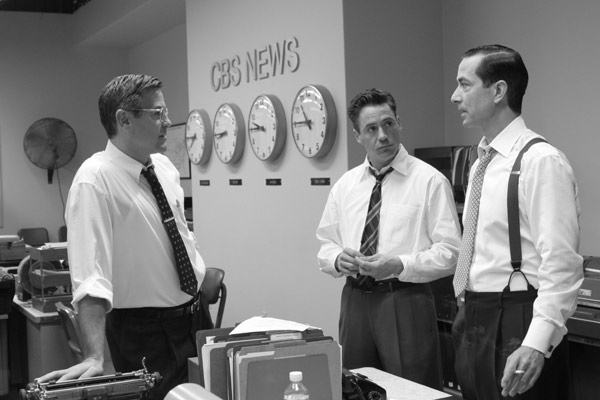 Good Night, and Good Luck. : Photo David Strathairn, George Clooney, Robert Downey Jr.