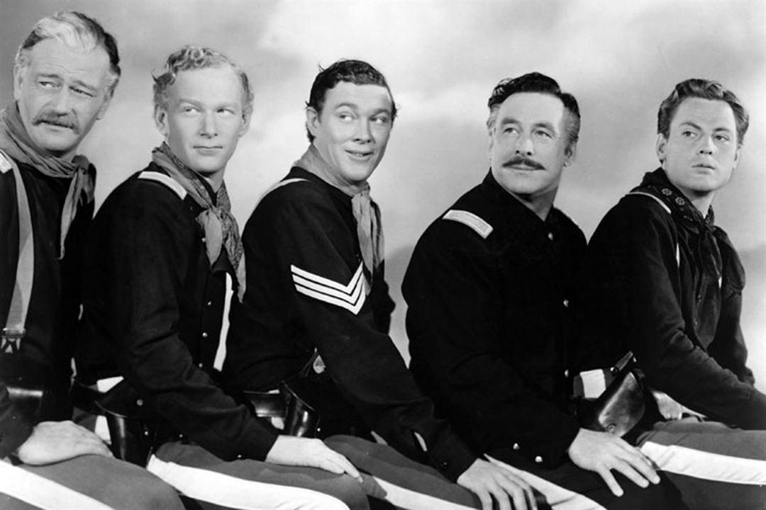 La Charge héroïque : Photo Harry Carey Jr., John Agar, John Ford, John Wayne