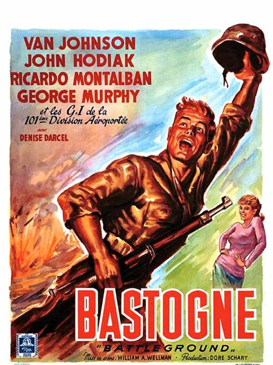 Bastogne : Affiche Van Johnson, William A. Wellman