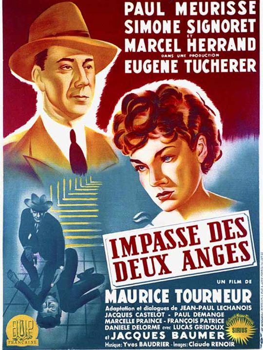 L'Impasse des deux anges : Affiche Maurice Tourneur, Paul Meurisse, Simone Signoret