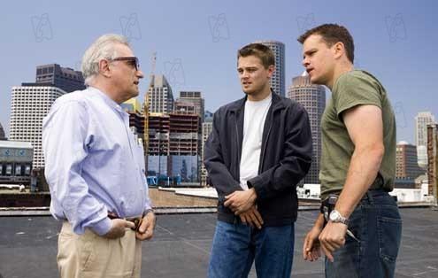 Les Infiltrés : Photo Leonardo DiCaprio, Martin Scorsese, Matt Damon