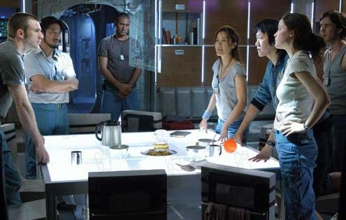 Sunshine : Photo Benedict Wong, Chris Evans, Cillian Murphy, Hiroyuki Sanada, Michelle Yeoh