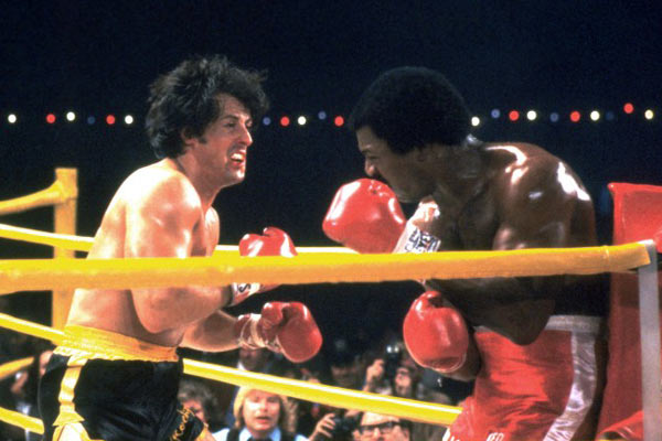 Rocky II : Photo Carl Weathers, Sylvester Stallone