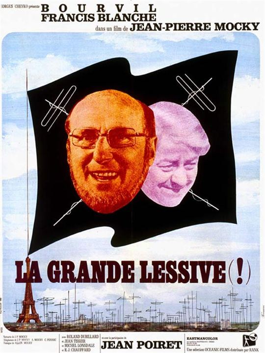 La Grande lessive : Affiche Bourvil, Francis Blanche, Jean-Pierre Mocky